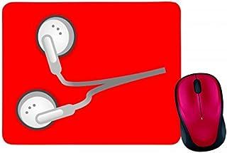 Alfombrilla de ratón con diseño de auriculares y música