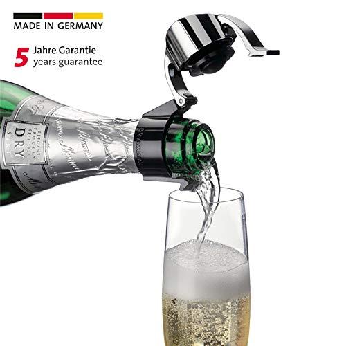 Westmark Sektflaschenverschluss/Klappverschluss, Kunststoff, Casco, Schwarz/Silber, 60022280