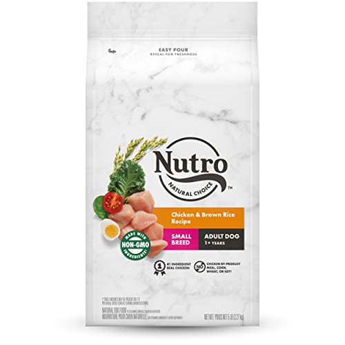 NUTRO NATURAL CHOICE Small Breed Adult Dry Dog Food, Chicken & Brown Rice Recipe Dog Kibble, 5 lb. Bag