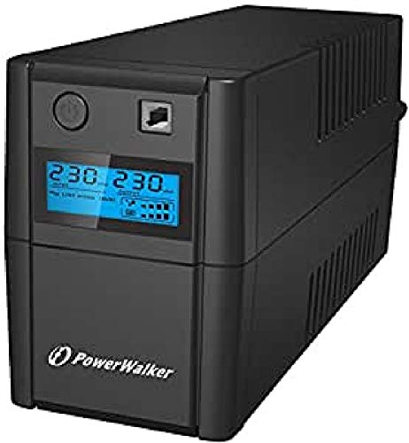 PowerWalker VI 650 Shl Schuko 650VA/ 360W Line-Interactive USV Tower AVR Hid LCD