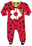 Sozo Baby-Girls Newborn Ladybug Footed Romper, Red/black, 6-9 Months
