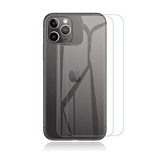 QULLOO Pellicola per iPhone 11 PRO Back Pellicola Protettiva Posteriore Full Coverage Vetro Temperato Anti-graffio Copertina Completa per Apple iPhone 11 PRO - 2 Piezas