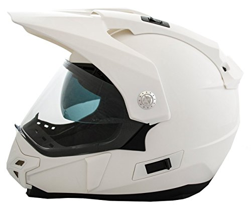 Casco Moto LEM - Trail - BLANCO BRILLO (S