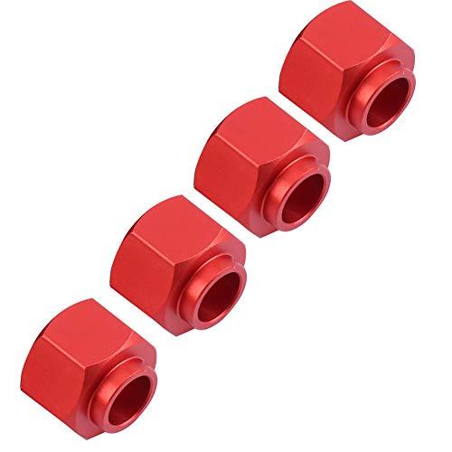 Dilwe RC Widen Adaptador, Metal 9mm Juego de Ensanchamiento de Ruedas para TRAXXAS TRX-4 D90 SCX10 1/10 Coche(Rojo)