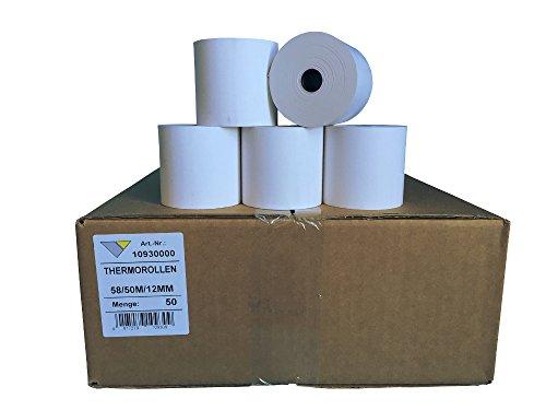 Veit 50 Stck. Thermorollen unbedruckt 58mmx50mx12mm ØRolle: 63mm, BPA-frei, Thermopapier ohne Aufrdruck