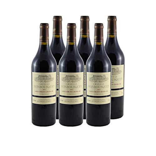 Château Monbousquet Saint-Emilion Grand Cru Classé Rotwein 2003 - g.U. - Bordeaux Frankreich - Rebsorte Cabernet Sauvignon, Cabernet Franc, Merlot - 6x75cl