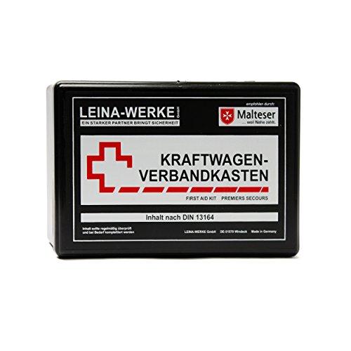 LEINA-WERKE REF 10104 Leina KFZ-Verbandkasten Unser Bester, Inhalt DIN 13164, Schwarz, Set of 10