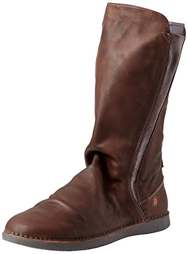 Softinos Damen Boots TEYA328SOF, Frauen Stiefel, Boots lederstiefel Freizeit,Braun(DK Brown),39 EU / 6 UK