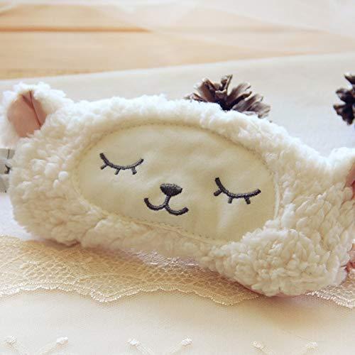 Weiche Baumwolle Schlafmaske, süße Tier Lidschatten Wolle Stapel schlafen Auge Maske Schlafen Assistent guten Traum Anfang, Geburtstagsgeschenk für Jungen und Mädchen schaf