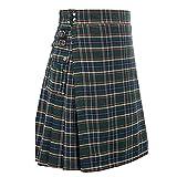 DAODE U.K Reloj Negro Hombre Escocés Faldas Escocesas Kilt de Cuadros Highland Informal Kilt