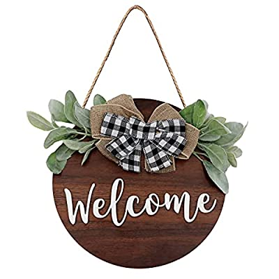 Amazon - 50% Off on Welcome Wreath Sign, Rustic Welcome Sign