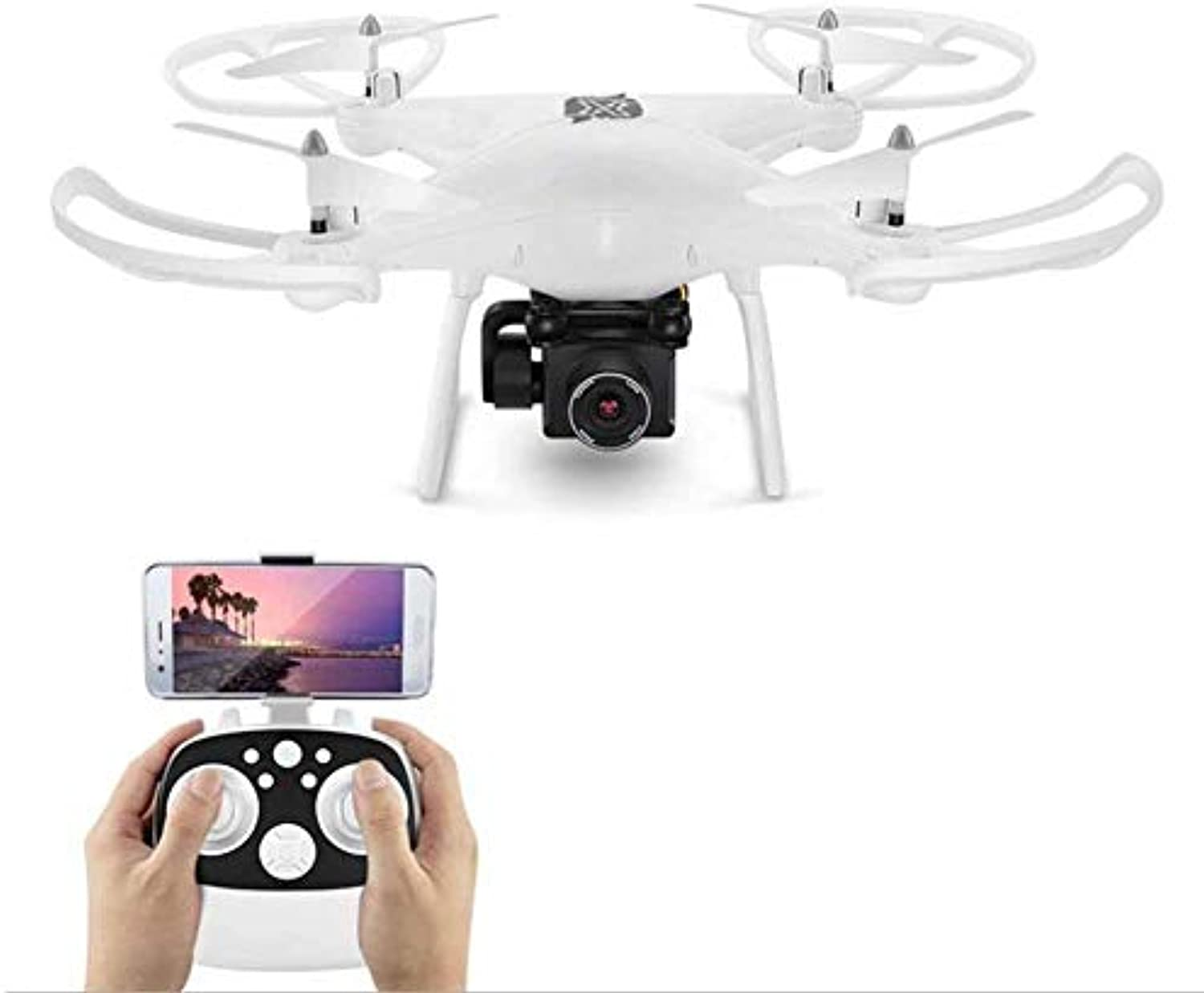 FTOPS WiFi FPV-Drohne mit 1080P HD-Kamera Live-Video-RC-Quadcopter mit Follow-Me, APP-Steuerung, Hhenstand, Headless-Modus, One Key Return, One Key-Start Landing und 3D-Flips