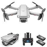 Drone plegable con cámara para adultos - Drone GPS con motor sin escobillas, 5g Wifi Fpv Drone con función de seguimiento, Drone profesional para adultos, Vuelo de 50 minutos