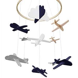 Baby Crib Mobile, Airplane Baby Mobile, Crib Mobile for Boys Nursery Decor