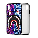 Shark Teeth Hardshell Silicone Case for iPhone X/Xs/Xs Max/Xr with Matte Finish Bape Hypebeast iPhone Case