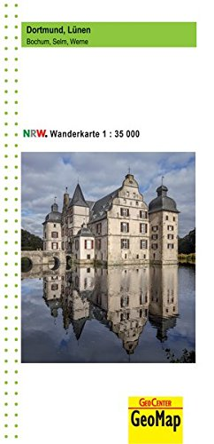 Dortmund, Lünen Wanderkarte 1:35 000: Bochum, Selm, Werne