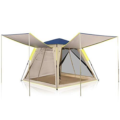 RongDuosi Blauwe Grote Ruimte Automatische Outdoor Tent 3-4 Personen 2 Personen Dubbele Picknick Vissen Camping Wild Familie Tent Outdoor Uitrusting Zwembed