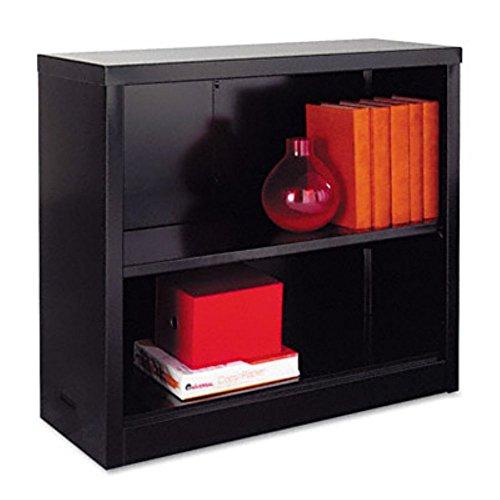 Big Sale Best Cheap Deals Alera Steel Bookcase, 2 Shelves, 34-1/2 W by 13 D by 30 H, Black