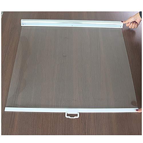 Estores Transparente Cortina Enrollable con Encargarse de por Congeladores Vitrinas, 60/70/75/80/85/90/95/100/105/110/115/120 cm de Ancho, 150cm de Altura (Size : 100×150cm/39×59in)