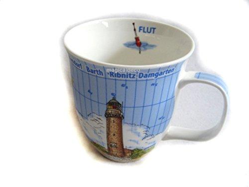 magicaldeco XL- Porzellan- Tasse, Kaffeepott- maritim Fischland Darß- Wustrow, Ahrenshoop, Born a. Darß, Wieck a. Darß, Prerow & Zingst