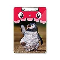生物学自然南極かわいいペンギン 虎口フラットヘッドフォルダー書き込みパッド学習A4