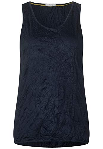 CECIL Damen 313751 Top, Blau (deep blue 10128), Medium (Herstellergröße:M)