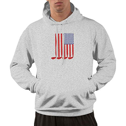 Men's Hoodie Sweatshirt Ryder Cup American Flag Trend New Classic Minimalist Style Gray XL