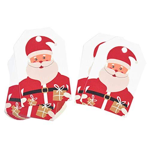 Decoración De Papel Partido 50 Piezas Feliz Navidad Etiquetas Tarjeta De Papel Kraft Etiqueta De Regalo Etiqueta Diy Etiquetas Colgantes Envoltorio De Regalo Decoración Tarjeta De Regalo Favores De N
