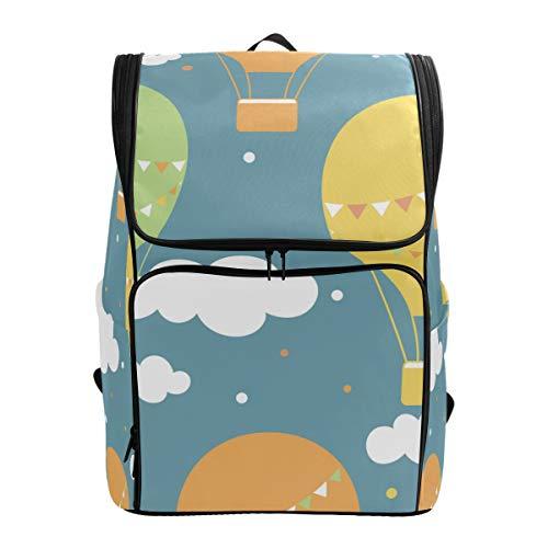 LISNIANY Rucksack,Luftballons Hand gezeichnetes nahtloses Muster,Computertasche,Schultasche,große Kapazität