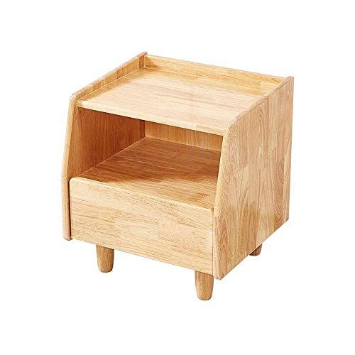 H-CAR Table de Chevet en Bois Massif Nordique Minimaliste Moderne Chambre Chevet Rangement casier économique Japonais en rondins
