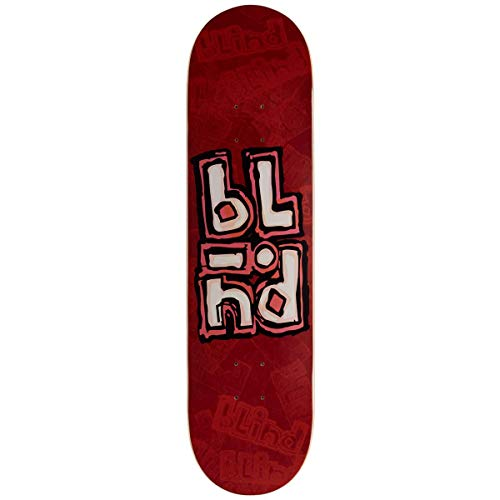 Blind Stacked Stamp Skateboard-Brett / Deck, 20,3 cm, Rot