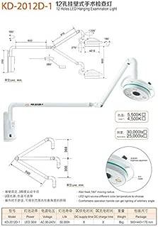 Aries Outlets Dental 12 Holes 36W LED Shadowless Wall Hanging Wall Mounted Operating Light Examination Lamp USA Stock