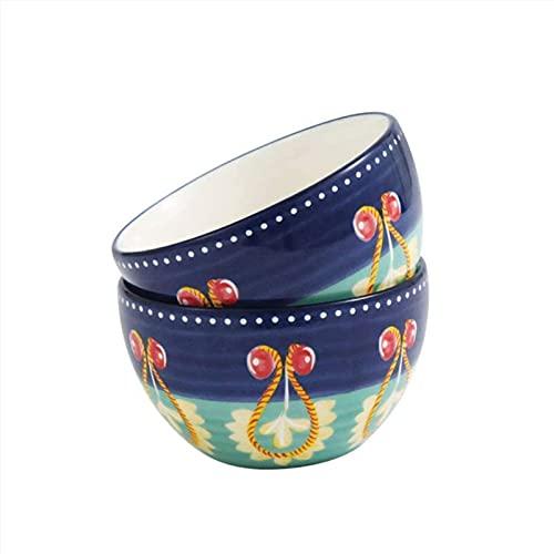 Cuenco de cerámica 5 Pulgadas Arroz Arroz Paquete de 2 ensaladeras Plegables...