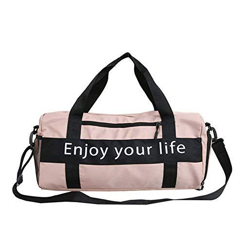 JWIL Sports Duffels Yoga Outdoor Walking Swimming Waterproof Men And Women Nylon Gym Bag Leisure Sports Travel Hand Luggage Bag for Yoga Swim (Color : Black, Size : Free size)