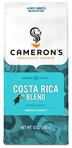Cameron's Coffee Roasted Ground Coffee Bag, Costa Rica Blend, 12 Ounce