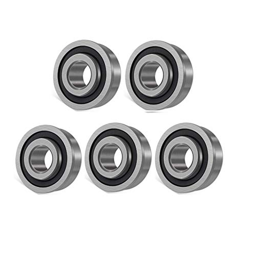 "5PCS Flanged Ball Bearing ID 3/4"" x OD 1-3/8"",Lawn Mower, Wheelbarrows, Carts & Hand Trucks Wheel Hub for Suitable,Replacement for Lawn Mower Wheel Bearing, Bushing to Bearings Conversion"
