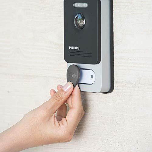 PHILIPS WelcomeEye CONNECT, Video Türsprechanlage, 2 Draht Technik, 7 Zoll Touch Monitor & WelcomeEye Add Compact, 4,3 Zoll Zusatzmonitor für Compact, Erweiterung der Steuerungszone, 2-Draht-Anschluss