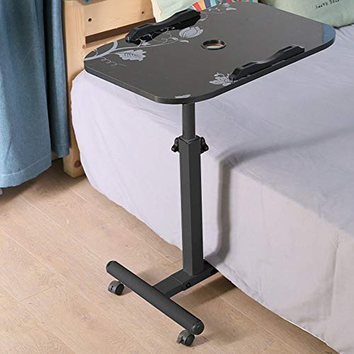 Home Beistelltische Einfache Laptop-Tisch Faul Bett Schreibtisch Desktop-Startseite Einfach Zusammenklappbaren Mobilen Nachttisch, BOSS LV, Schwarz