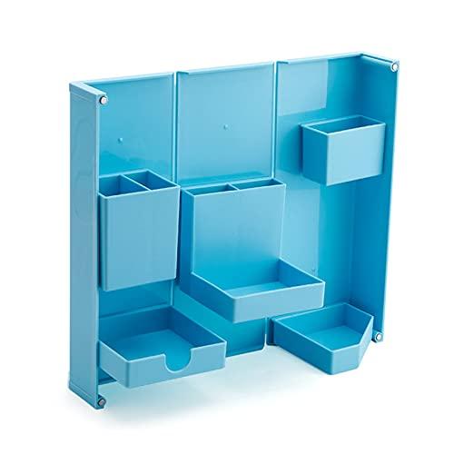 BestSiller Kawaii - Estuche magnético plegable, soporte para bolígrafos de escritorio, caja de almacenamiento de maquillaje, organizador de escritorio para suministros de oficina