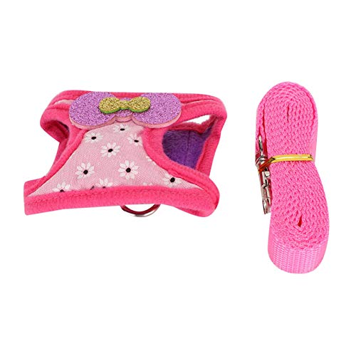 Arnés para Animales pequeños Diseño de Gancho y Bucle Transpirable y cómodo Estilo novedoso y Hermoso Lindo S, M, L Lleve a Las Mascotas a Caminar(L)