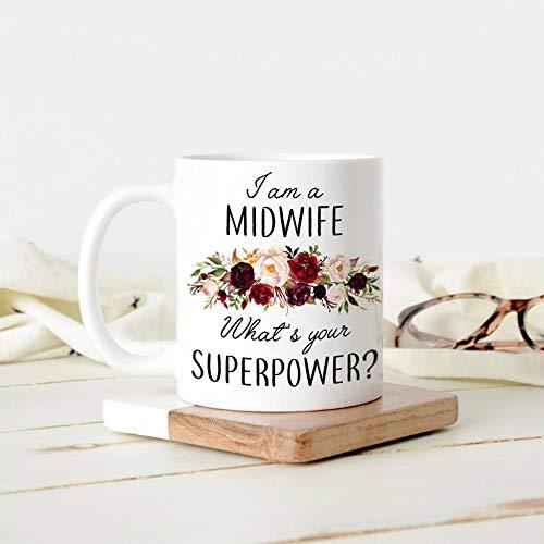 Taza divertida con texto en inglés «I am a Midwife What Your Superpower, Midwife at Your Cervix, taza divertida para la partera en tu cuello uterino, regalo para el día de la madre o madre