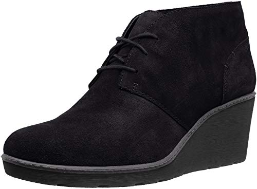 Clarks Women's Hazen Charm Fashion Boot, Black Suede, 070 M US