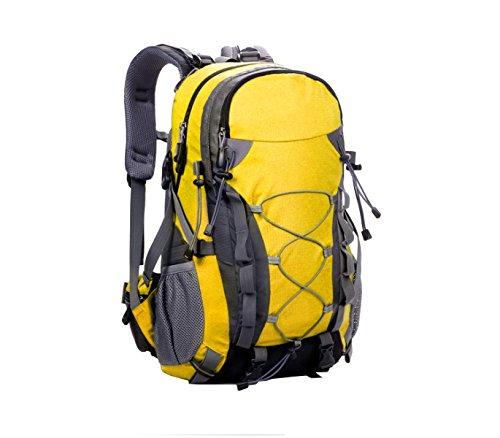 Yy.f Sac D'alpinisme Extérieur Grande Capacité Sac à Bandoulière De Voyage Bagages 40 L étanche Camping Randonnée Sac à Dos Multifonctionnel. Multicolore,Yellow-32*15*50cm