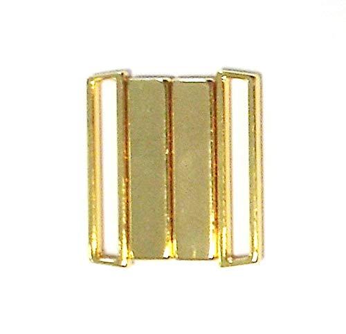 Großhandel für Schneiderbedarf Bikiniverschluss Metall Gold 25 mm Stegbreite