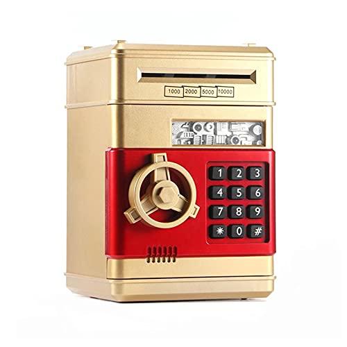 GQTYBZ Caja de Seguridad Electrónica de Hucha, Banco de Dinero con Contraseña, Caja de Seguridad de Dinero de Cajero AutomáTico Electrónico Multifunción para Niños como Regalo de Cumpleaños y Navidad
