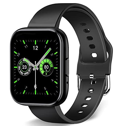 Smartwatch für Damen Herren Fitness Armbanduhr für 1.55 Zoll Touch-Farbdisplay Fitness Tracker Wasserdicht IP67,Smart Watch mit Schrittzähler Schlafmonitor GPS 7 Sportmodi Sportuhr für Android und iOS