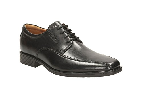 Clarks Men's Tilden Walk Derby, Schwarz (Black Leather), 42.5 EU