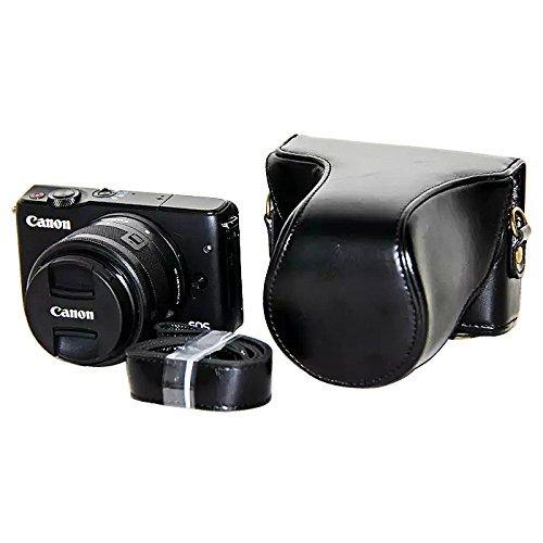 PU Leder Kameratasch Kamera-Taschen SLR-Taschen for Canon EOS-M10 with 15-45mm lens schwarz