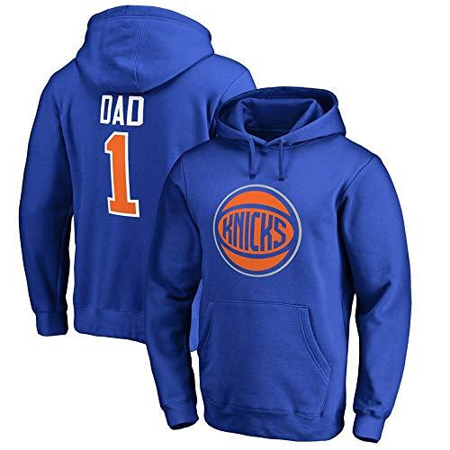 BMSD Sport Jersey Hoodies Unisex NBA New York Knicks No. 1 Jersey Hombres Pullover NBA Sudaderas de Manga Larga Uniforme Ropa, 3XL