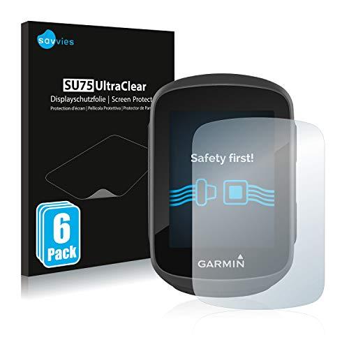savvies Protector Pantalla Compatible con Garmin Edge 130 (6 Unidades) Película Ultra Transparente